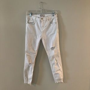 Free People white ripped jeans